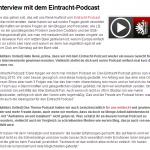 Interview mit dem Eintracht Podcast