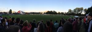 Panorama Blick auf das Testspiel