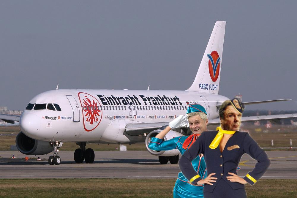 Danke an Niklas für die Umsetzung des geforderten Stewardessen Bild. Und damit auch Danke an Armin Veh für die guten Dinge, die er bei der Eintracht gemacht hat. Aber jetzt #teamkovac