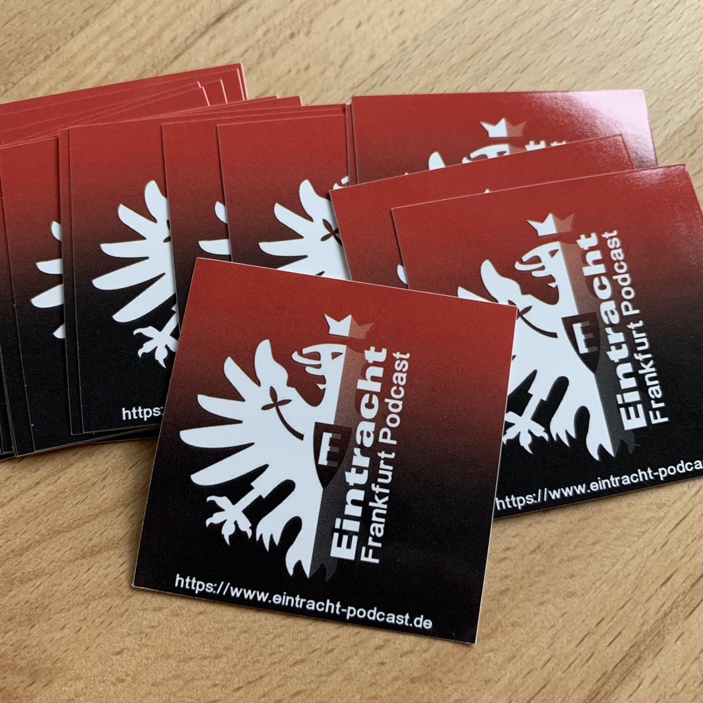 Aufkleber Eintracht Frankfurt Podcast